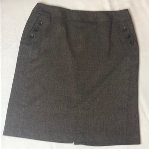 Rafaella Brown Tweed Skirt—Size 14P